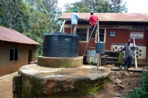 The Water Project: Eshiamboko Primary School -  Plastic Tank For The Kitchen