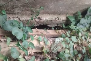 The Water Project: Essaba Secondary School -  Latrine Floor