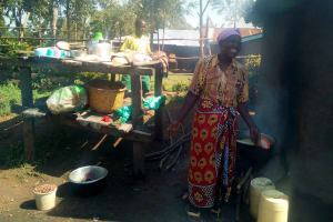 The Water Project: Jidereri Primary School -  School Cook At The Kitchen