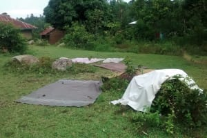 The Water Project: Jivovoli Community, Gideon Asonga Spring -  Clothes Drying