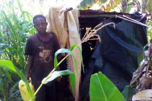 The Water Project: Lwangele Community, Machayo Spring -  Latrine