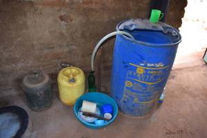 The Water Project: Katalwa Primary School -  Kitchen Water Storage