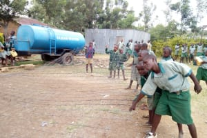 The Water Project: Madivini Primary School -  Iron Mesh Used For Tank Wall