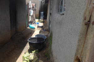 The Water Project: Masera Community, Salim Hassan Spring -  Water Containers