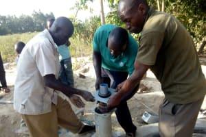 The Water Project: Eshitowa Community -  Pump Installation