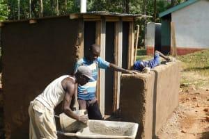 The Water Project: Eshisiru Secondary School -  Latrine Construction