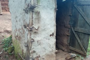 The Water Project: Samisbei Community, Isaac Rutoh Spring -  Latrine