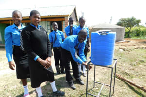 The Water Project: Mutsuma Secondary School -  Hand Washing Station