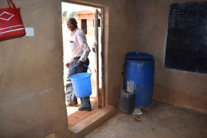 The Water Project: Nzalae Primary School -  Water Storage