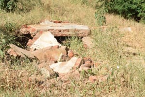 The Water Project: Ndaluni Primary School -  Collapsed Latrines