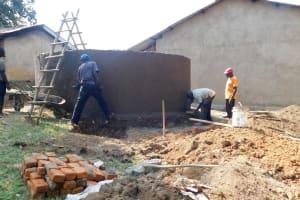 The Water Project: Eshisiru Secondary School -  Tank Construction