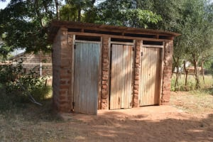 The Water Project: Ndaluni Primary School -  Boys Latrines