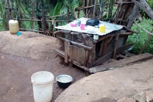 The Water Project: Samisbei Community, Isaac Rutoh Spring -  Dish Rack