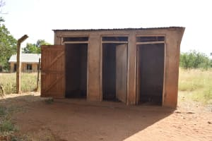 The Water Project: Ndaluni Primary School -  Girls Latrines