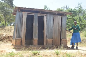 The Water Project: Kithumba Primary School -  Girls Latrines