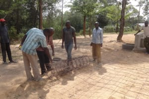 The Water Project: Ematetie Primary School -  Iron Mesh For Tank Wall