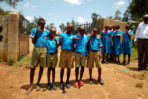 The Water Project: Eshiamboko Primary School -  Students Posing At The School Gate