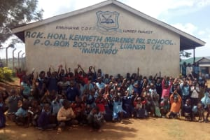 The Water Project: Kenneth Marende Primary School -  Students Gathered Outside Classrooms