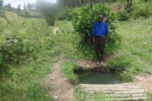 The Water Project: Masera Community, Ernest Mumbo Spring -  Current Water Source