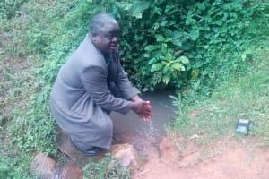 The Water Project: Koloch Community, Solomon Pendi Spring -  Mr Pendi At The Spring