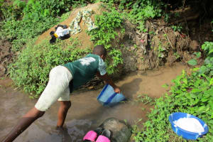 The Water Project: Tintafor, Fire Force Barracks Community -  Current Water Source