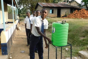 The Water Project: Eshisiru Secondary School -  Hand Washing Station