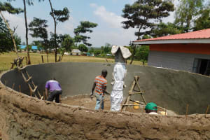 The Water Project: Womulalu Primary School -  Tank Construction