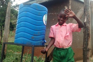 The Water Project: Womulalu Primary School -  Hand Washing Station