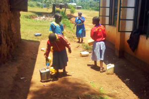 The Water Project: Eshilibo Primary School -  Students Delivering Water To The School Kitchen