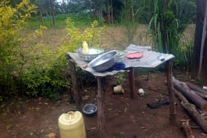 The Water Project: Mwituwa Community, Nanjira Spring -  Containers