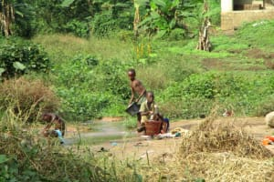 The Water Project: Kasongha Community, Maternal Child Health Post -  Current Water Source