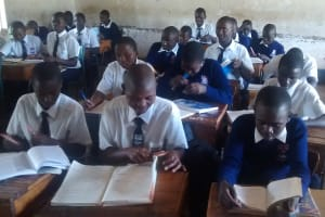 The Water Project: Essaba Secondary School -  Students In Class