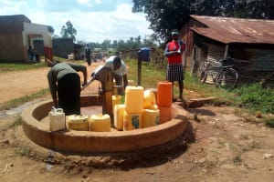 The Water Project: Bushili Primary School -  Busy Community Borehole