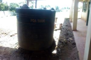 The Water Project: Sipande Secondary School -  Broken Plastic Tank