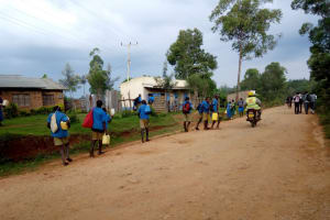 The Water Project: Lusiola Primary School -  Students Going Back To Their Communities To Find Water During Lunch