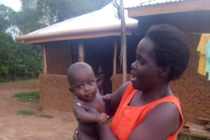 The Water Project: Mwituwa Community, Nanjira Spring -  Jesca And Little Benta