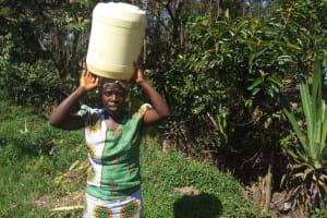 The Water Project: Matsakha Community, Mbakaya Spring -  Carrying Water