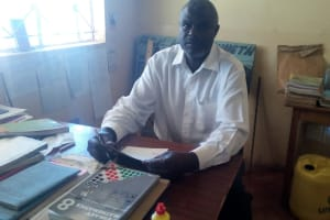 The Water Project: Kenneth Marende Primary School -  Deputy Headteacher In His Office