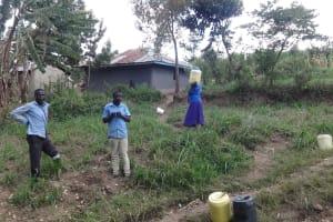 The Water Project: Ingavira Community, Laban Mwanzo Spring -  Environment Around He Spring