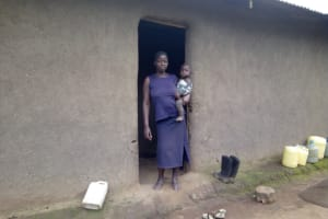 The Water Project: Muraka Community, Peter Itevete Spring -  Mercy Itevete Poses With Her Child