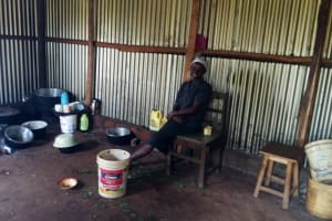 The Water Project: Injira Secondary School -  School Cook In Kitchen