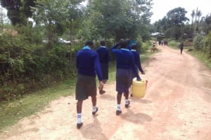 The Water Project: Kamuluguywa Secondary School -  Going To Fetch Water