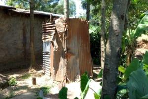 The Water Project: Muyundi Community, Baraza Spring -  Latrine