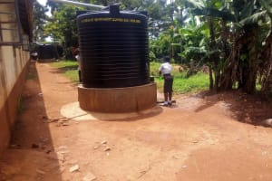 The Water Project: Essong'olo Secondary School -  Plastic Water Tank