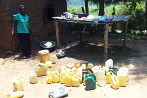 The Water Project: Makuchi Primary School -  Water Containers Used By Students