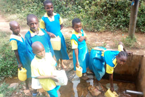 The Water Project: Lugango Primary School -  Fetching Water