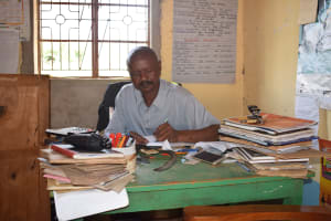 The Water Project: Ndaluni Primary School -  Headteacher Christopher Kituto