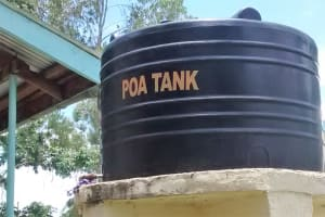 The Water Project: Lihanda Secondary School -  Plastic Tank