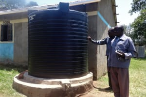 The Water Project: Musabale Primary School -  Plastic Water Tank