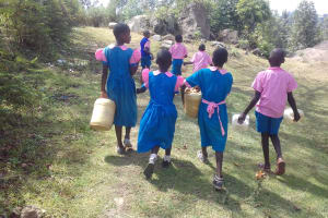 The Water Project: Kapsotik Primary School -  Students Going To Find Water